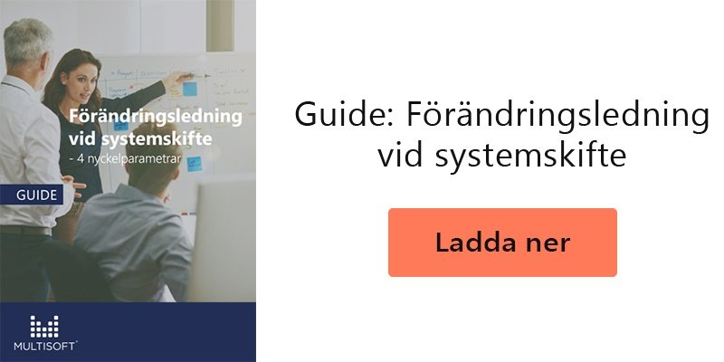 Guide: Förändringsledning vid systemskifte