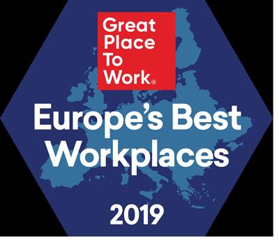 Logotyp för Europas bästa arbetsplatser